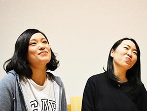これからの活動を語る永澤佳子さんと工藤園子さん